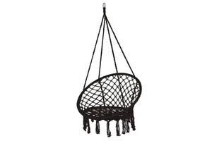 Подвесное кресло-качели плетеное Springos черный SKL41-283253