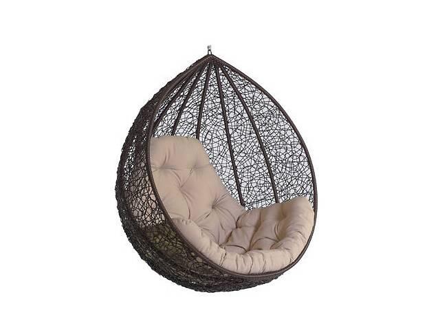 купить бу Подвесное садовое кресло качели кокон капля шар плетеное из ротанга Украинские Конструкции Гарди Биг Gardi Big в Киеве