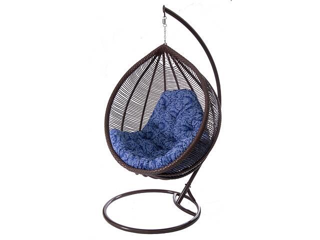 Подвесное садовое кресло качели кокон капля шар плетеное из ротанга Украинские Конструкции Кит / Kit со стойкой- объявление о продаже  в Киеве