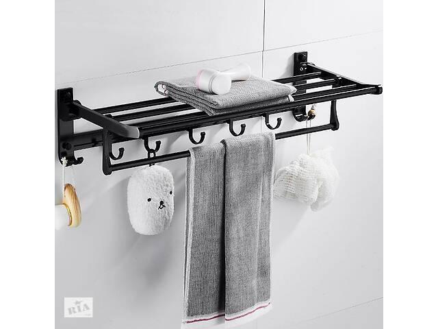 бу Полка для полотенец Art Design Rondo 55903 черный в Киеве