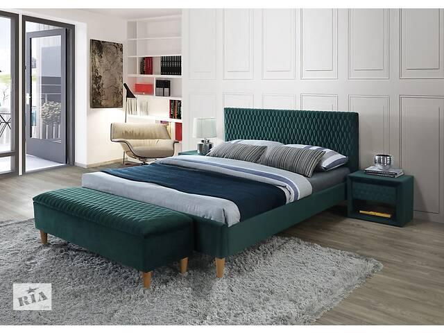 Полуторне ліжко Azurro Velvet 140X200 Зелений- объявление о продаже  в Одессе