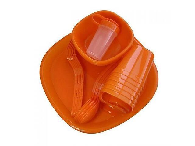 Посуда пластиковая MHZ набор для пикника 48 приборов на 6 персон R86499 Red (007514)- объявление о продаже  в Киеве