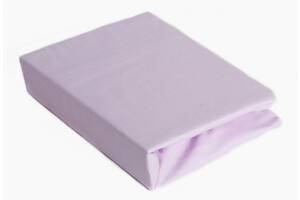 Простынь на резинке для детской кровати Twins 120/60 см. фиолетовая