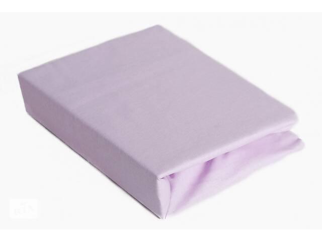 купить бу Простынь на резинке для детской кровати Twins 120/60 см. фиолетовая в Киеве