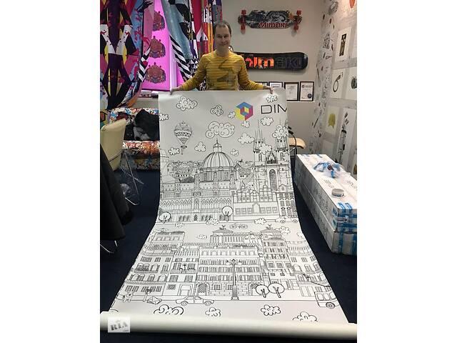 бу Раскраска обои в детскую дизайнерские Город детей Kid City 250 см х 330 см в Киеве