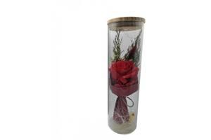 Роза в колбе Rose A52 с LED подсветкой Красная (vd79889193)