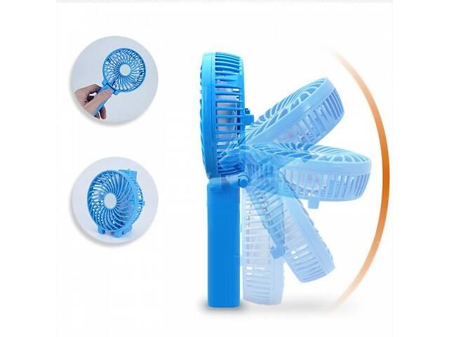 купить бу Ручной мини вентилятор трансформер Kronos handy mini fan с аккумулятором 18650 White (gr_007249) в Киеве