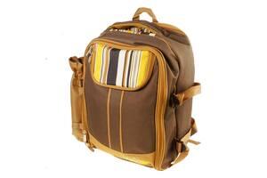 Рюкзак з набором для пікніка на 4 персони - посуд, столові прибори, плед