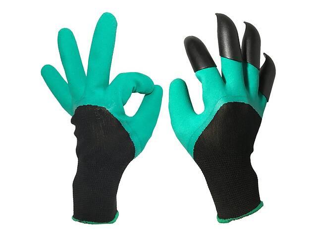 бу Садовые перчатки с пластиковыми наконечниками с когтями для земли  Garden Genie Gloves (ml-89) в Киеве