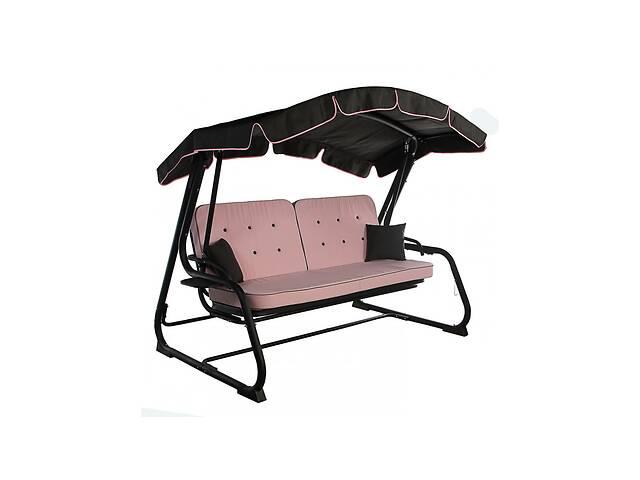Садовый уличный раскладной 4х местный диван качель кровать Ost-Fran / Ост-Фран Evia / Эвиа розовый- объявление о продаже  в Киеве