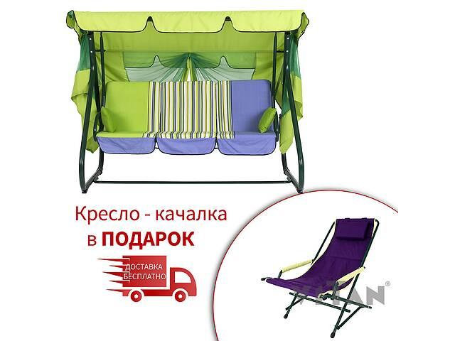 бу Садовый уличный раскладной 4х местный диван качель кровать Vitan / Витан Вилла хамелеон в Киеве