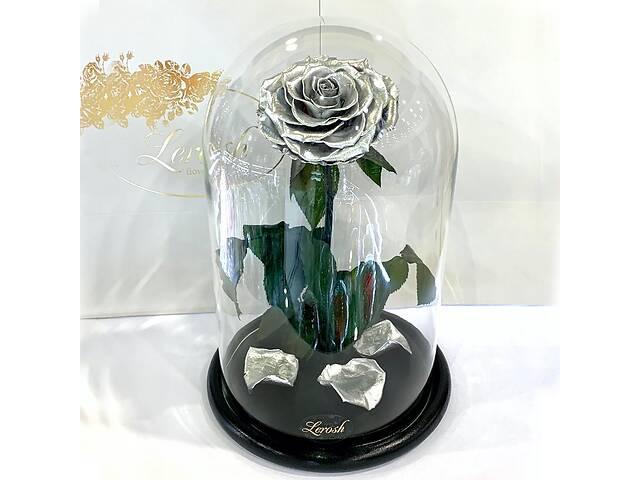 купить бу Серебряная роза в колбе Lerosh - Lux 33 см SKL15-279545 в Харькове