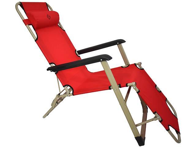 купить бу Шезлонг лежак Bonro 180 см красный в Львове