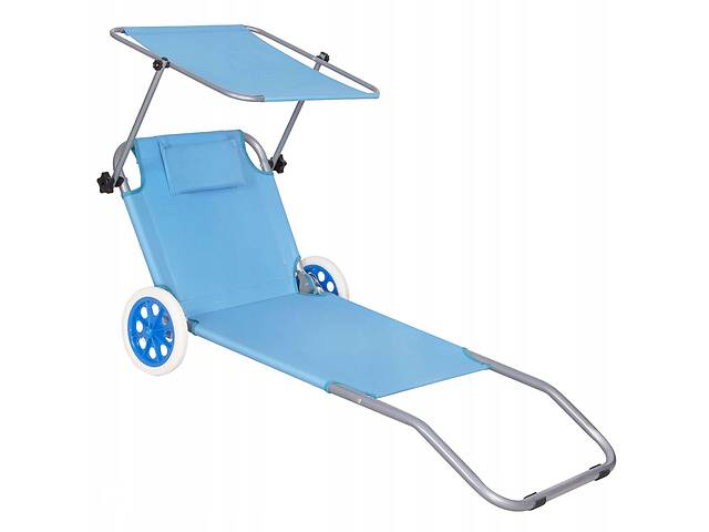 бу Шезлонг (лежак) для пляжа, террасы и сада с колесами и навесом Springos GC0045 в Одессе