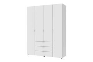 Шкаф 4-х дверный Гелар 1550х495х2034 ДСП Белый