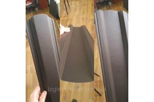 Паркан Коричневий Корея двосторонній рал 8017 мат 0,5 мм Трапеція