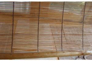 шторка бамбуковая на балкон с креплениями. торг