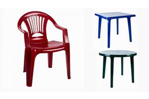 Столы и стулья пластиковые Мебель садовая Доставка по Киеву и Украине