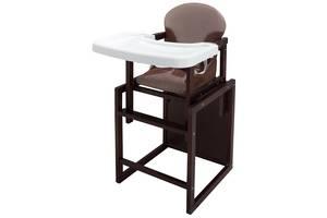 Стільчик - трансформер Babyroom Поні-220 тонований пластикова стільниця капучіно-шоколад