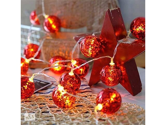 Світлодіодна гірлянда ColorWay Christmas lights ball (6 см) (CW-MC-LB20U) 20LED, 3м, USB- объявление о продаже  в Харкові