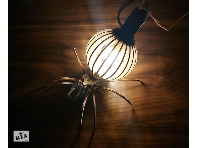 Светильник, лампа из дерева в виде паука- объявление о продаже  в Киеве