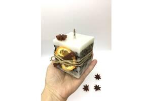Свеча с зернами кофе ручной работы