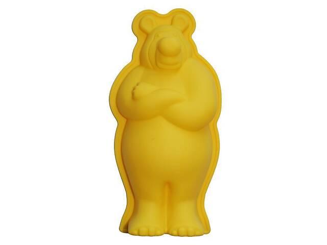 купить бу Силиконовая форма для выпечки Hauser Медведь 26х14см Желтая (HH-616_psg) в Киеве