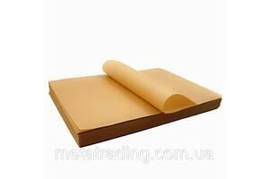 Силиконизированная бумага для выпечки коричневая в письмах 60 * 39