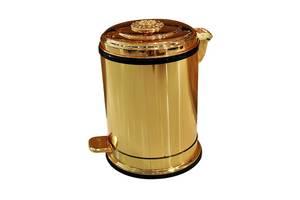 Відро для сміття з педаллю Art Design CH1501 Золото, 6л