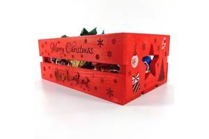 Ящик деревянный новогодний Мастерская мистера Томаса 15х25х9.5см дерево морилка