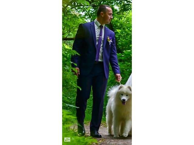 купить бу Костюм чоловічий, весільний костюм Patrick Figaro, фіолетовий костюм в Киеве