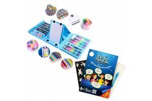 Набор для рисования с мольбертом в чемодане на 208 предметов в подарок Планшет Рисуй Светом A5 SKL11-276026