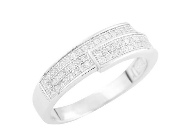купить бу Серебряное кольцо SilverBreeze с фианитами 17.5 (1560662) в Киеве