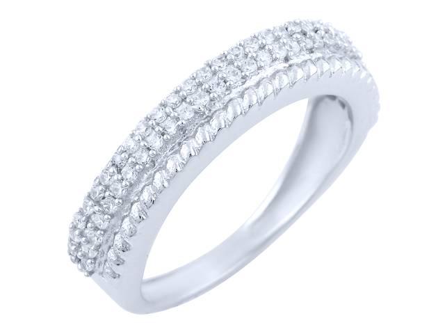 продам Серебряное кольцо SilverBreeze с фианитами 18 (1763223) бу в Киеве