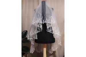 Свадебная фата компьютерная вышивка вышивка кружево