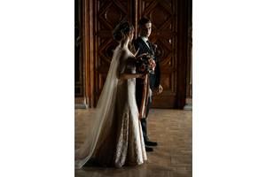 Свадебное платье нюдового цвета+ПОДАРОК шлейф Ватто+пояс Свадебное платье