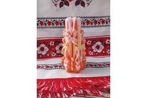 Свічки різьблені весільні в венеціанському стилі