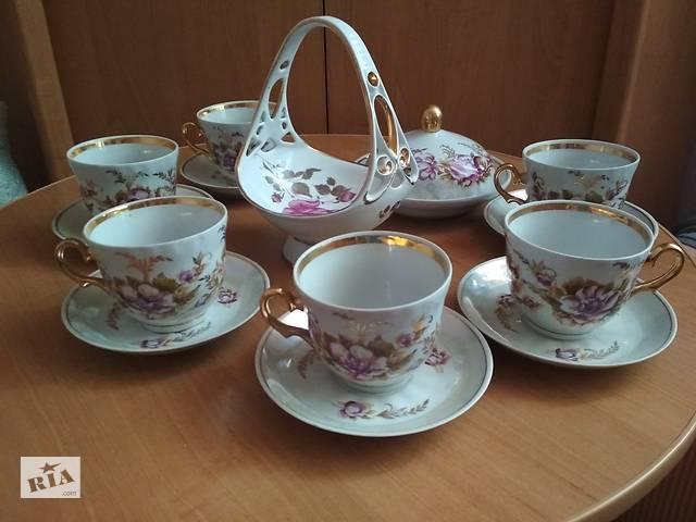 Чайный фарфоровый сервиз Коростень