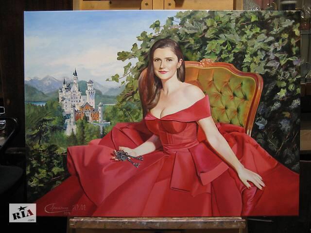 """бу """"Подарите человеку хорошее настроение! Закажите его портрет на холсте!"""" Портрет на холсте красками.Заказать портрет Киев в Киеве"""