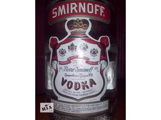 купить бу Антикварная бутылка из под Смирнофф 1,75 (оригинал) в Хмельницком