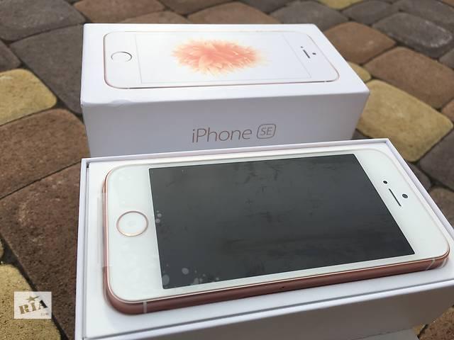 купить бу Apple iPhone SE 16gb Rose Gold NeverLock!! НОВЫЙ!! +Оригинальный комплект!! в Нежине
