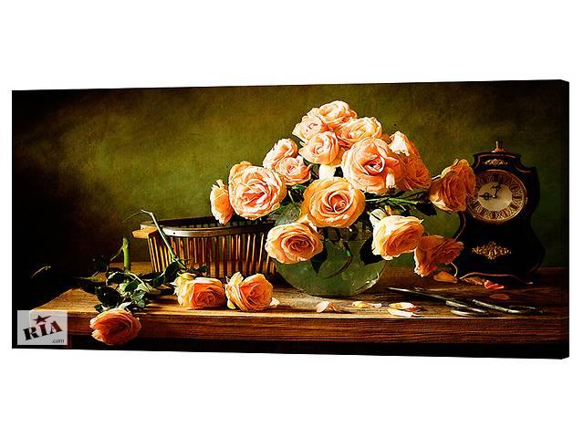 Картина на холсте Декор Карпаты Цветы 50х100 см (c792)- объявление о продаже  в Києві