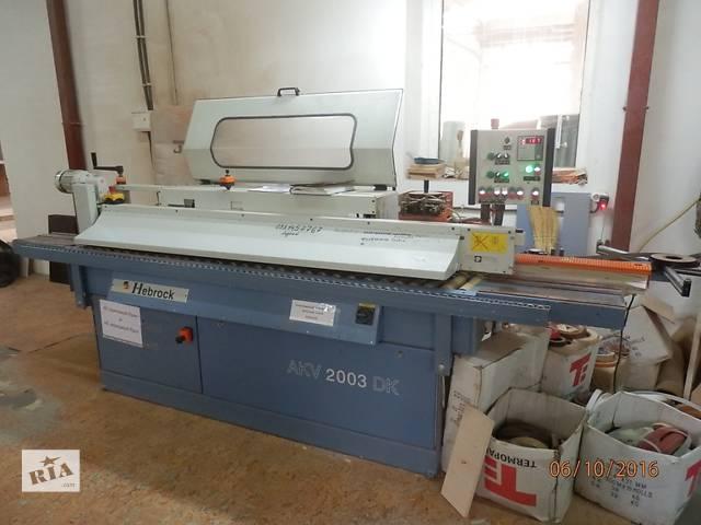 купить бу Автоматический кромкооблицовочный станок Hebrock AKV 2003 DK - станок промышленного класса для облицовки кромок материал  в Украине