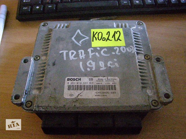 купить бу Б/у блок управления двигателем для автобуса Renault Trafic 0281010633 1.9DCi в Таврийске