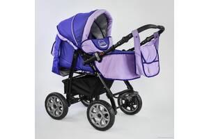 Детская коляска 2 в 1 Viki  86- C 68 темно-синий с фиолетовым