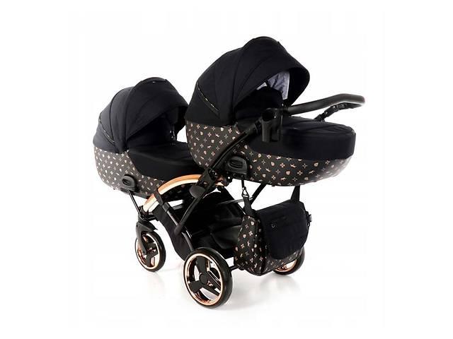 продам Универсальная коляска для двойни Tako Laret Imperial Duo Slim 04 черная бу в Киеве