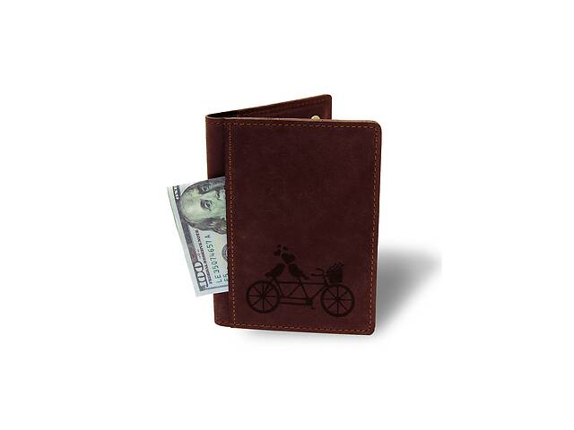 купить бу Холдер-паспорт Тандем М01 бордовый - 177953 в Одессе