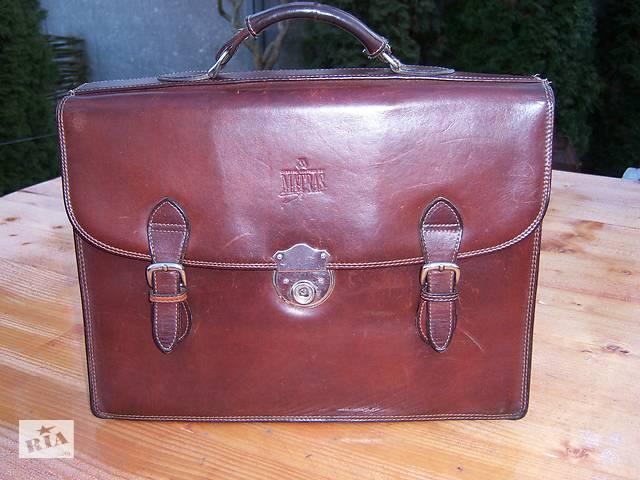 Кожаный портфель делового мужчины, бренд фирмы MATRАS- объявление о продаже  в Мукачево