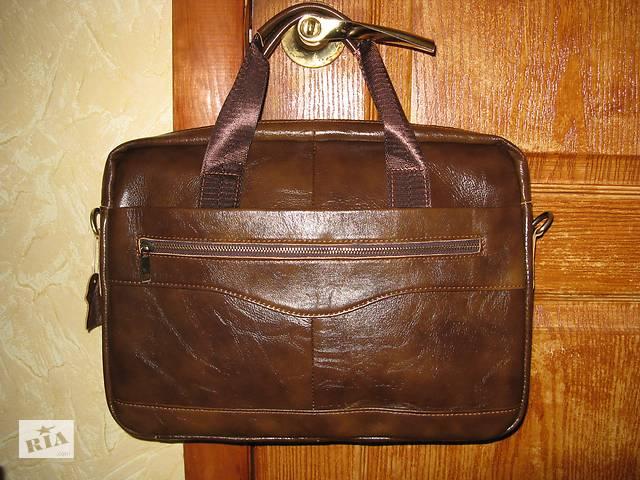 0c3b8f8d78c5 Мужская кожаная деловая сумка в черном коричневом цвете ручная работа. 1  690 грн