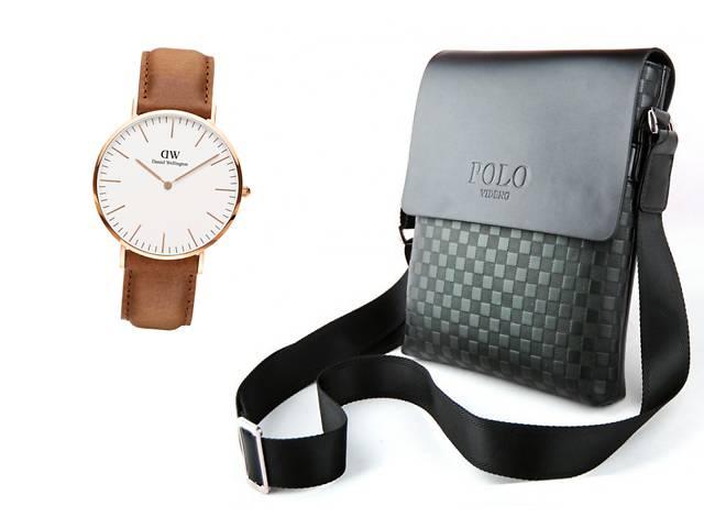 бу Мужская сумка Polo Videng Paris+Часы в Подарок в Харькове